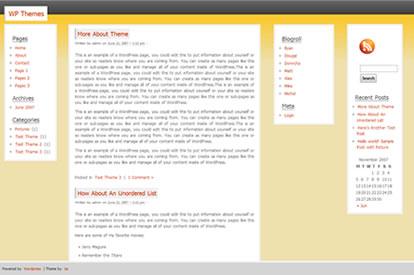 Wordpress Theme - Amber