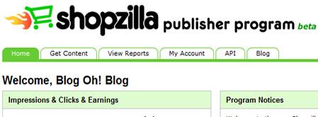 Shopzilla Publisher Program