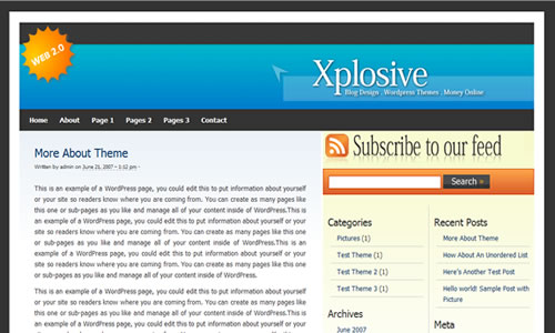 Wordpress Theme - Xplosive