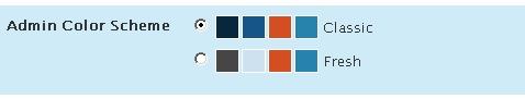 Admin Color Scheme - WordPress 2.5