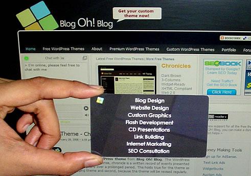 Blog Oh! Blog Business Card Back