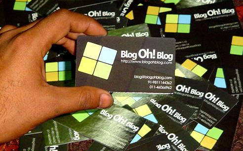 Blogohblog visiting cards