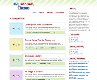 WordPress Tutorials Theme
