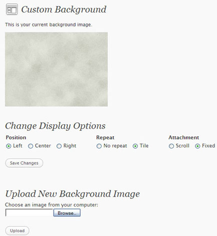 WordPress Custom Background Image