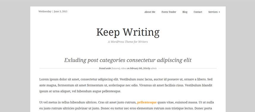 keepwriting-wordpress-theme