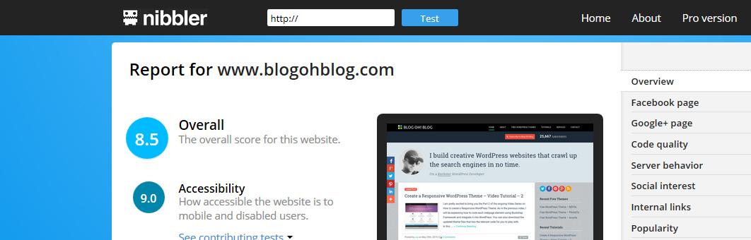nibbler-website-testing-tool